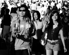 A friendly face in the crowd (manganite) Tags: street girls people bw hot cute sexy topf25 beautiful beauty smile sunglasses station fashion japan modern night digital geotagged asian japanese tokyo necklace cool topf50 nikon shinjuku asia pretty nightshot pants legs tl candid young teens posing guys streetscene belly jeans babes fancy teenager hotties bags d200 dslr gals japanesegirls girlies vsign hotpants 50mmf18 manganite nikonstunninggallery challengeyou challengeyouwinner date:year=2006 date:month=july date:day=15 geo:lat=35689106 geo:lon=13969993