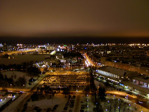 View from the olympic tower in Helsinki
