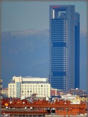 Madrid (Spain) (sky_hlv) Tags: cerrodeltíopío parque park parquedelcerrodeltíopío parquedelas7tetas skyline skyscraper skyscrapers rascacielos ctba cuatrotorresbusinessarea cuatrotorres madrid españa spain europe europa panorámica panoramicview panoramic