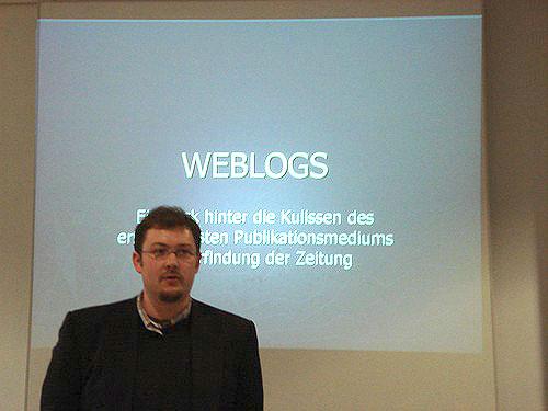 Vortrag über Blogs - Sven