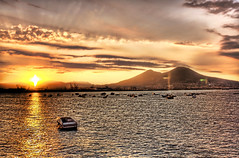 Pompeii and Mount Vesuvius by morning (Stuck in Customs) Tags: morning italy sun mountains look sunrise photography lights volcano bay boat cool nikon italia photographer view gorgeous great panoramic mount holy pompeii napoli naples vesuvius spiritual magical hdr pompei highquality specland rayes stuckincustoms treyratcliff