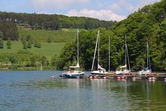 Hennesee II (EP Diederiks) Tags: trees sky lake tree water clouds germany deutschland see boat spring meer ship hill sail duitsland segel zeilboot sauerland