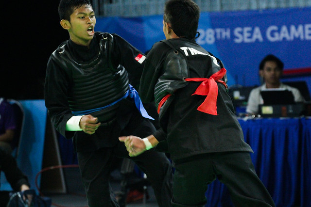 2015 SEA Games Pencak Silat - Men & Women Tanding Class D QF SIN vs THA
