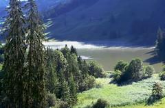 Black Lake (welenna) Tags: morning summer mist lake black fog switzerland see nebel morgen schwarzsee