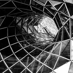 Frankfurt - MyZeil (lotl.axo) Tags: blackandwhite bw abstract monochrome architecture composition photoshop buildings germany square deutschland hessen frankfurt shapes squareformat architektur sw abstraction gebäude komposition abstrakt quadrat formen abstraktion schwarzweis architekturdetail quadratformat