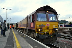66184 - Bristol Temple Meads (AJHigham) Tags: station bristol temple shed db 66 class shrewsbury exeter railtour 660 dbs meads schenker 66184
