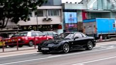Mazda RX7 (FD) (ChesterC Photography) Tags: auto street black cars sports japan hongkong japanese twins mod automobile power great running turbo mazda rx7 import rotary jdm fd initiald sportcars m43 wingless 13b projectd gx1 umlimited