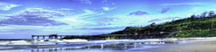 Catherine Hill Bay Panorama (Arcus Cloud) Tags: sky panorama seascape reflection abandoned clouds reflections landscape outdoors coast landscapes outdoor jetty australia coastal wharf nsw beaches coastline skyandclouds australianlandscape hdr waterreflection waterreflections beachscape shorescape australianbeach catherinehillbay hdrpanorama hdrlandscapes hdrlandscape bestofaustralia abandonedaustralia abandonedandderelict abandonedcoalloader