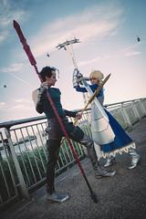 Saber & Lancer from Fate/Zero (Blue Changhui Lee) Tags: london king cosplay knights fate saber lancer excalibur diarmuid ua pendragon arturia fatezero arturiapendragon diarmuiduaduibhne duibhne zerosaber kingoftheknights