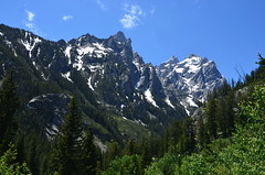 Looking up Cascade Canyon (afagen) Tags: favorite mountain nps hiking trail wyoming nationalparkservice grandteton jacksonhole grandtetonnationalpark cascadecanyon