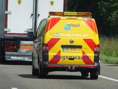 Wegenwacht (stevenbrandist) Tags: road travel vw volkswagen stripes thenetherlands led breakdown van beacon recovery transporter travelogue wegenwacht vk998j