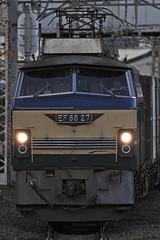 EF66-27 Freight train (Kaz_0609) Tags: railroad japan train canon jr el cargo 7d locomotive freight jrf  ef66 jrfreight   jr eos7d ef6627
