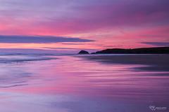 Red Dawn (KRLandscapes) Tags: pink sunset red sky seascape beach landscape cornwall fuji tide newquay fujifilm 1855 perranporth xt1
