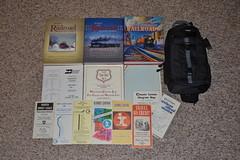 Summerail 2015 (railohio) Tags: map books bn wc vivitar camerabag chessie timetables prr conrail burlingtonnorthern wisconsincentral illinoiscentral njdot summerail employeetimetables summerail2015