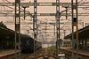 Farewell (Luzifr) Tags: indien india südindien kanniyakumari kanyakumari tamilnadu southindia landsend bahnhof railwaystation railway rails railroad schienen gleise geleise stromabnehmer strom elektrizität electricity southernrailways südbahn bahn eisenbahn zug train tropisch tropical tropen dunkel dark gray grey grau schilder signs exotic exotisch textur texture zoom outdoor himmel sky heaven metall metal muster pattern canoneos650d tracks düster
