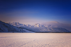 kinda blue... (J. Kaphan Studios) Tags: jacksonhole wyoming grandtetons mountains bluesky blue clouds winter snow ranchlife nikon bluehour