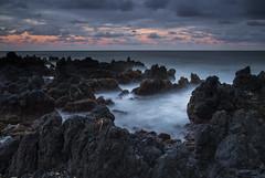 Ke'anae Peninsula - Maui - Hawaii (Xiang&Jie) Tags: hawaii lavarocks rock rockformation seashore sea sunset penisula keanaepeninsula maui silky cloud blackrock landscape