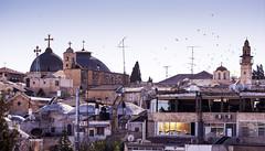 Dome of the Rock - Jerusalem (tigrić) Tags: hijra religion domeoftherock jerusalem islam israel rooftops skyline sunset history culturalheritage church