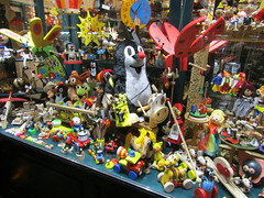 Little Mole and other toys (wallygrom) Tags: czechrepublic prague toy stuffedtoy littlemole krtek