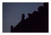 Sentinelle (hélène chantemerle) Tags: denuit façades murs paris photosderue rue toits louvre lune croissant noir bleu nigth town walls roofs crescentmoon black blue street