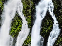 Falls Interpretations (Alfred J. Lockwood Photography) Tags: alfredjlockwood nature landscape waterfall water moss rock granite valdez keystonecanyon alaska summer morning overcast