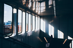 U-bahn snapshot #10 (desomnis) Tags: vienna wien ubahn station light reflection shadows lightandshadow lines windows urban indoor architecture snapshot ricoh ricohgr austria österreich desomnis nopeople modernarchitecture