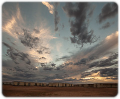 Prominent Hill Mine Camp (Craig Jewell Photography) Tags: australia desert dusk outback prominenthill red southaustralia sunset iso400 f40 ¹⁄₄₀₀sec canon canoneos5dmarkii ef1635mmf28liiusm copyright2016craigjewell 1ev aperturepriority 20161213204013mg9596cr2 orange clouds cloudy twilight martian moonscape gravel inhospitable arid barren stark sky open landscape nature geography geographical horizon greatvictoriadesert wilderness
