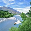 Screaming in Paradise (Steve Wheadon) Tags: film bronica bronicasq river otago newzealand jetboat queenstown countryside landscape mediumformat 50mmlens wideangle 120mm speed paradise southisland travel mountains sunlight fujipro400h