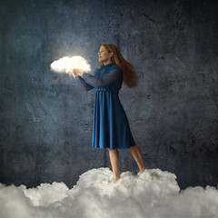 Cherish your Dreams (natashalh) Tags: dreams surreal magic magical fineartportrait selfportrait fineartphotography clouds fairytale