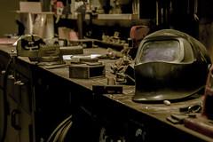 welder mess ! (bastlabrit) Tags: soudeur welder metal iron work shop atelier masque mask mess