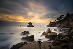Morning light (modesrodriguez) Tags: lloretdemar caladelsfrares seascape sunrise rocks longexposure silkeffect water sea mediterranean