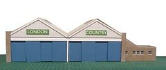 Chelsham LCBS (kingsway john) Tags: cm chelsham bus garage model 176 scale oo gauge kingsway models lcbs london country miniature