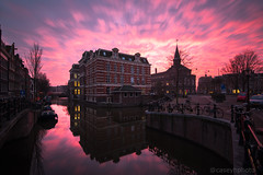 Pink Sunset II - Amsterdam, The Netherlands (N+C Photo) Tags: amsterdam sunset nd neutral density filter long exposure slow shutter speed d800 nikon nikkor sky water clouds nubes travel traveling traveler travelers traveller travels adventure adventurers adventurer explore explorer explorers exploring amstel iamsterdam ams holanda dutch benelux european marnixstraat pink 1635f4