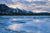 Icy Sunrise (Quincey Deters) Tags: 2016 allrightsreserved canada january nature outdoor â©quinceydeters colourimage horizontal coolcolour blue cyan landscape mountain snow ice water tree forest river frozen morning winter sky cloud sunrise northamerica alberta jaspernationalpark snaringriver rockymountains canadianrockymountains