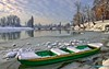 The boat trapped in a frozen river (malioli) Tags: river water ice cold frost frozen winetr sky clouds weather boat tree karlovac croatia hrvatska europe canon pics picture photo photography image hdr