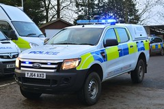 YJ64 AXO (S11 AUN) Tags: north yorkshire police nyp ford ranger 4x4 pickup truck anpr adt specialist advanced driver training driving school offroad trainer patrol panda incident response car rural policing unit 999 emergency vehicle yj64axo