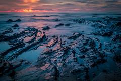 Echoes Reach (mark5photographic) Tags: seascapes sea sunset seashore sun ocean orange coast long water waves landscape light california clouds beach blue