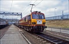 92001 6B47 Washwood Heath-Brescia. Dollands Moor. 1 June 1999. (mikul44171) Tags: 92001 dollands channel tunnel brescia class92 chunnel anniversary