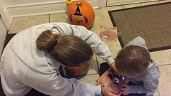"Mommy and Paul Decorate Pumpkins • <a style=""font-size:0.8em;"" href=""http://www.flickr.com/photos/109120354@N07/32298281163/"" target=""_blank"">View on Flickr</a>"