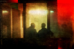 Night shift (sf_streetphoto) Tags: silhouette sillhouettes iphonephotography iphoneography color abstract streetphotography