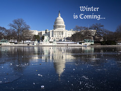 Winter is Coming (1-20-2017) (RobertCross1 (off and on)) Tags: dc washington omd olympus em5 winter snow ice politics capitol reflection inauguration trump bluesky winteriscoming congress usa government president districtofcolumbia
