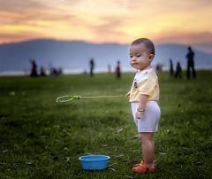 Bad Mood (Ah Wei (Lung Wei)) Tags: portrait people kids cute babyboy sunset pantaibersih penang penangisland georgetown pulaupinang malaysia georgetownpenang nikon50mmf18g 50mmf18g nikond750 nikon ahweilungwei