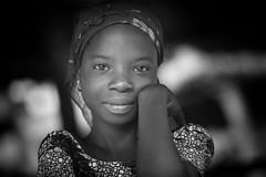 Benin: jeune fille dans la forêt d'Allada. (claude gourlay) Tags: benin afrique africa afriquedelouest claudegourlay allada portrait retrato ritratti enfant child noiretblanc blackandwhite bw nb