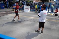 Zaak at the end of his marathon!