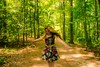 11/365 The Sound of Music (Emily Moy Photography) Tags: brown motion blur green girl canon woods pretty dress caroline spinning greenbelt 365 bleh 1965 woodsy inthewoods thesoundofmusic 365project canoneosrebelt3i