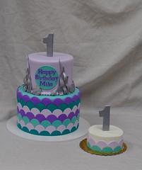 mermaid cake and smash cake (jennywenny) Tags: birthday cake smash first mermaid