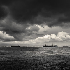 I Should Stop Waiting For... (sebistaen) Tags: sea cloud white black boat flickr gibraltar sbastien lemercier sebistaen