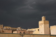DSC_3051 (Kent MacElwee) Tags: africa sky cloud ancient northafrica ominous minaret islam religion stormy mosque historic morocco fez maroc maghreb medina fes
