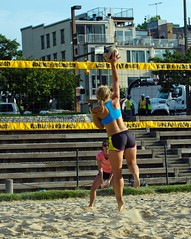 2015-07-20 BBV Women's Doubles (47) (cmfgu) Tags: girls net beach female ball court md sand outdoor maryland baltimore womens volleyball athlete league innerharbor doubles womans twos bbv 2s rashfield