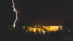 Lightning and City Lights (Maximilian.M) Tags: city storm bulb lights long frankfurt lightning strikes thunder